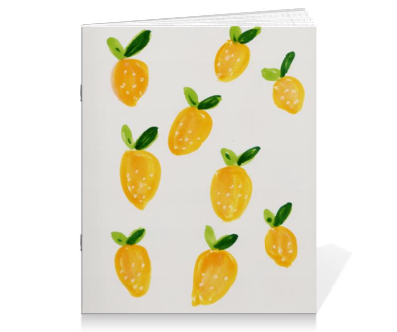 Printio Тетрадь на скрепке Лимонная тетрадь