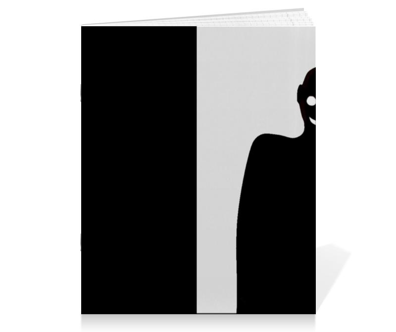 Printio Тетрадь на скрепке Черное&белое