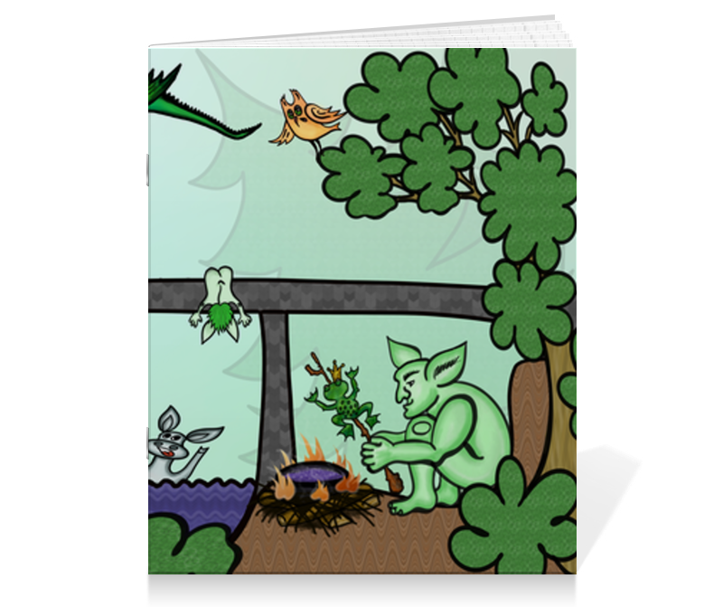 Printio Тетрадь на скрепке Семья троллей живет под мостом