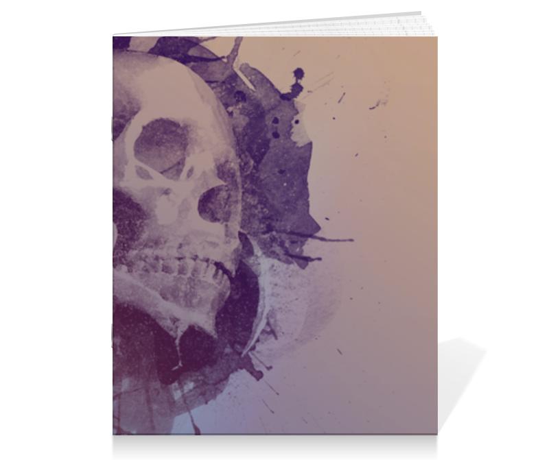 Printio Тетрадь на скрепке Splatter skull