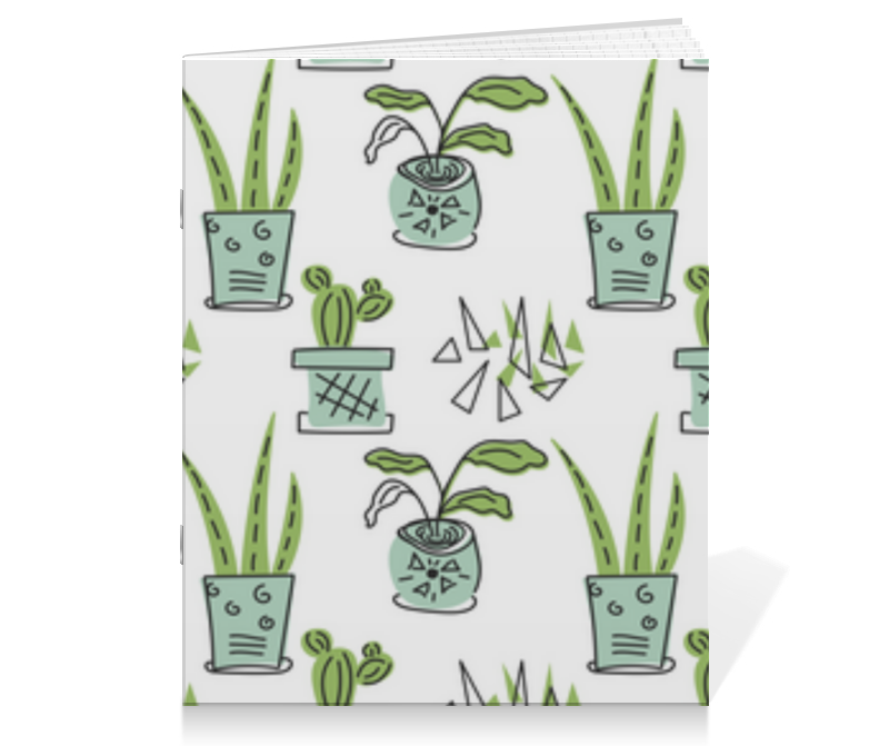 Printio Тетрадь на скрепке Комнатные растения и кактусы