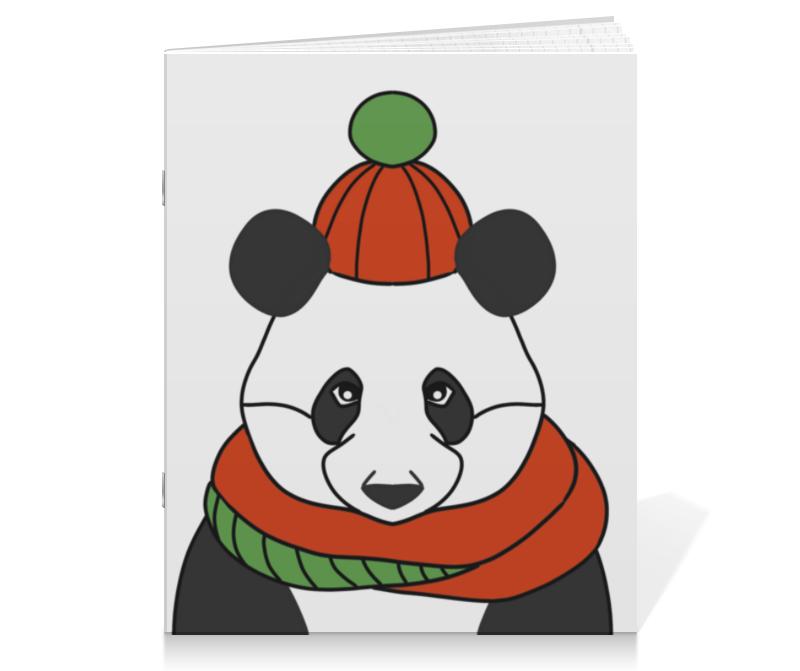 printio тетрадь на скрепке панда Printio Тетрадь на скрепке Новогодняя панда