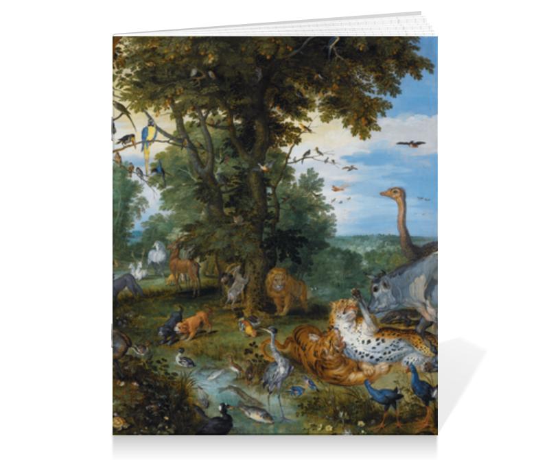 Printio Тетрадь на скрепке Эдемский сад с грехопадением человека (рубенс)