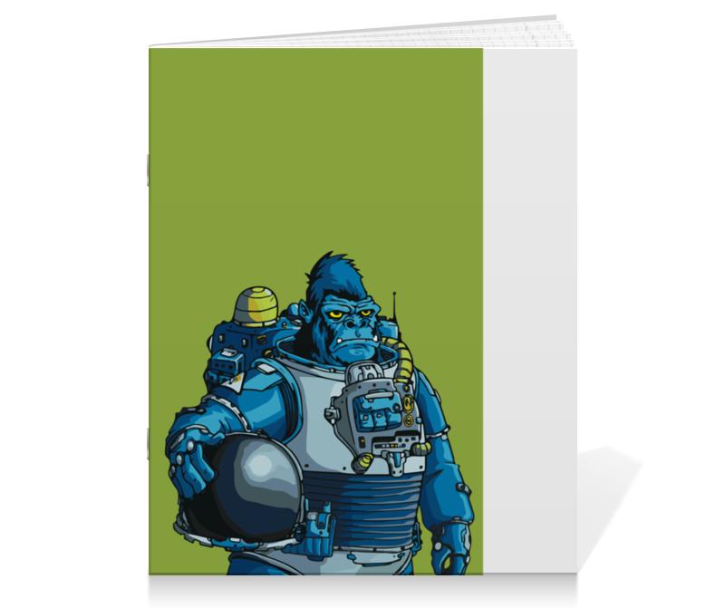 Printio Тетрадь на скрепке Космическая горилла