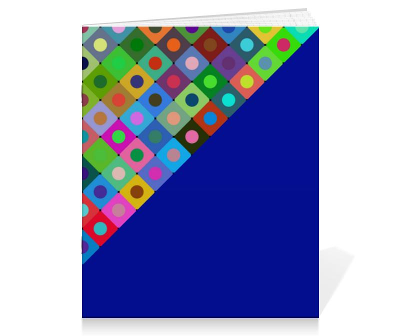 Printio Тетрадь на скрепке Круги и квадраты