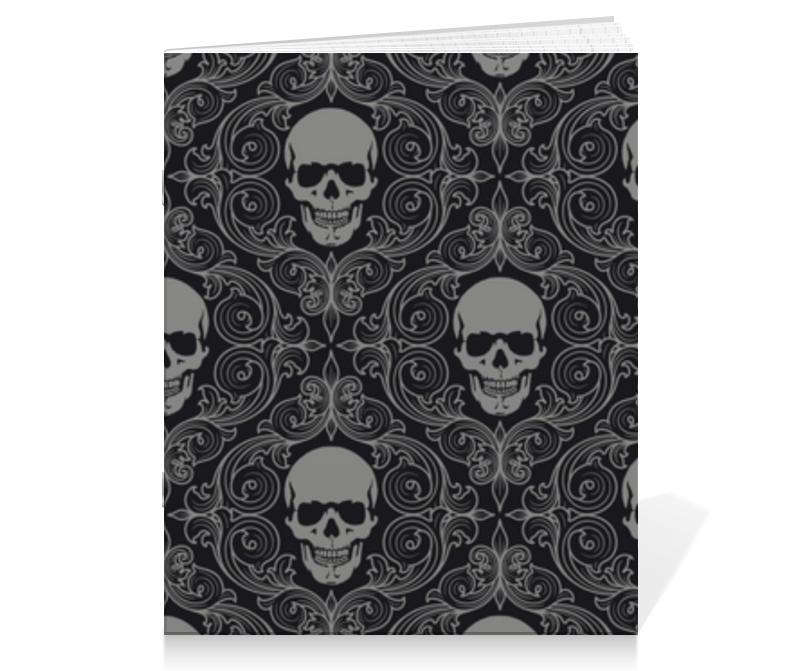 Printio Тетрадь на скрепке Texture skull