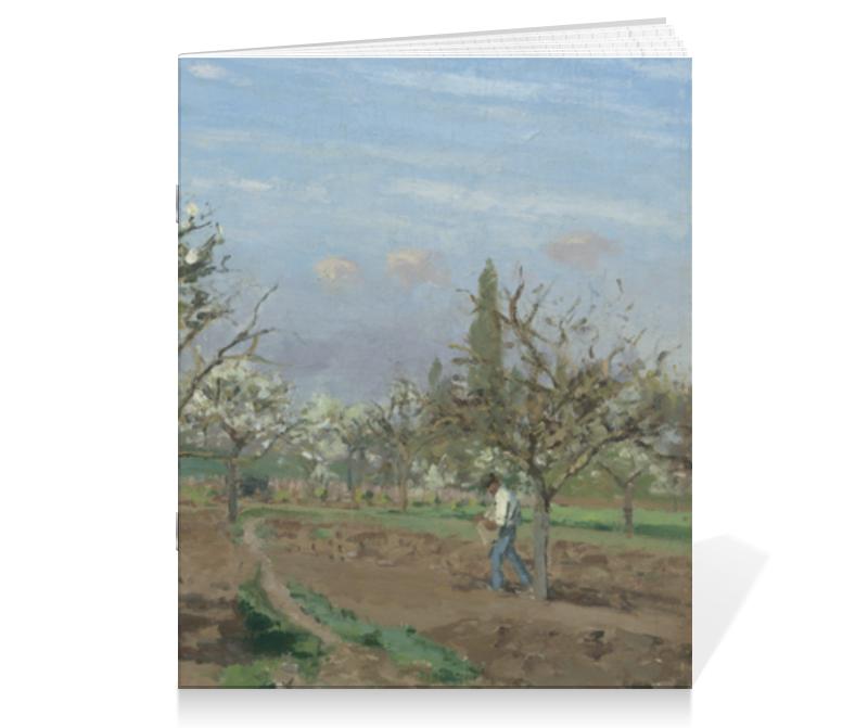 Printio Тетрадь на скрепке Фруктовый сад в цвету (картина писсарро) printio тетрадь на скрепке фруктовый сад весной альфред сислей