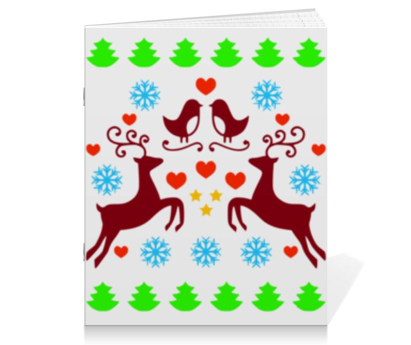 printio тетрадь на скрепке новогоднее настроение Printio Тетрадь на скрепке Новогодние узоры