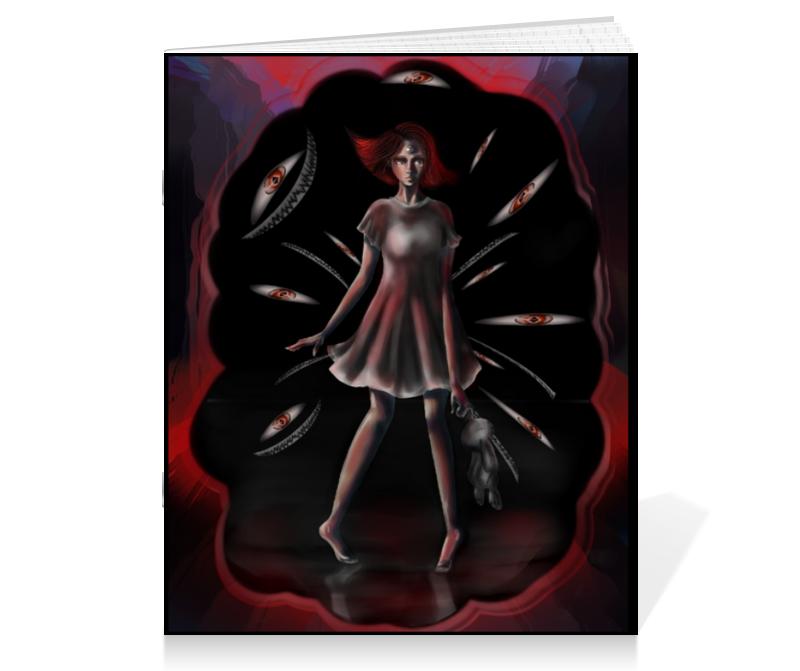 Printio Тетрадь на скрепке Черное&красное