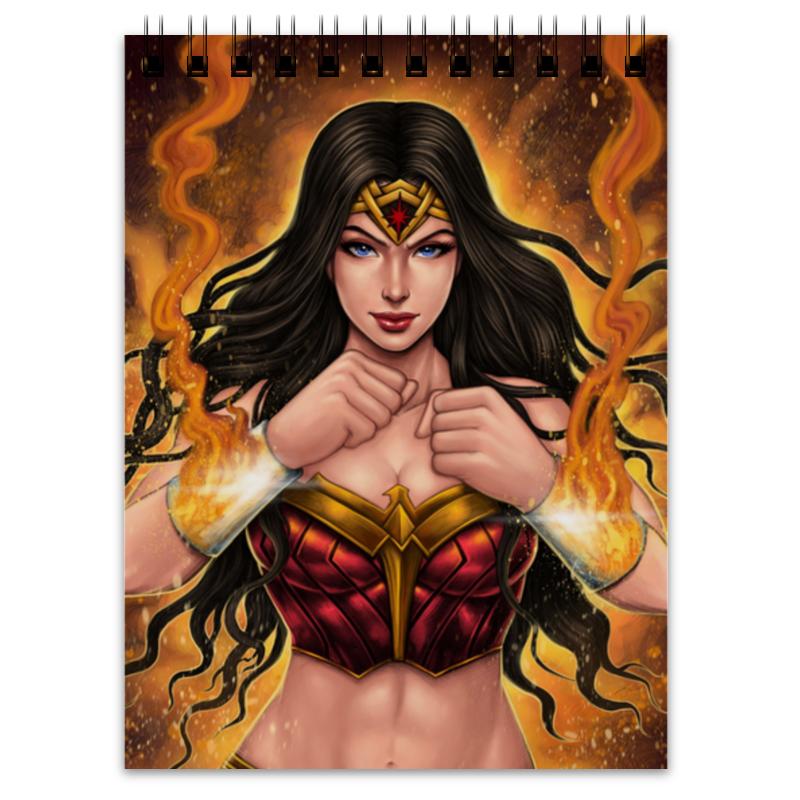 Printio Блокнот Чудо-женщина / wonder woman обложка для паспорта printio чудо женщина wonder woman