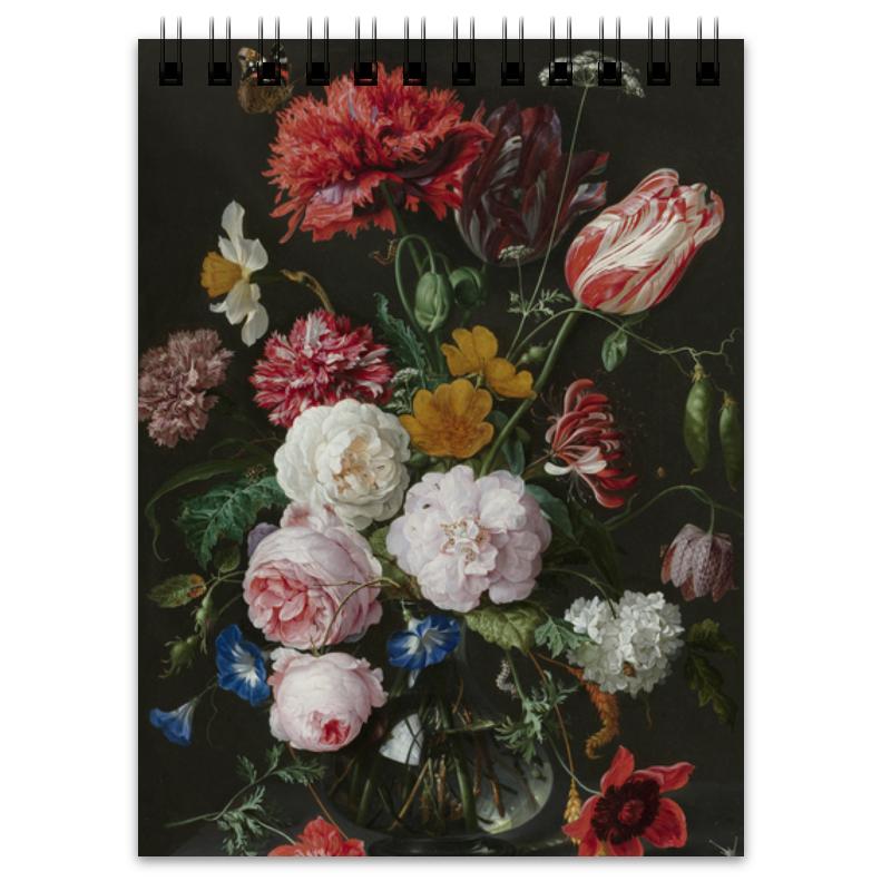 Printio Блокнот Цветочный букет в стеклянной вазе (ян де хем)