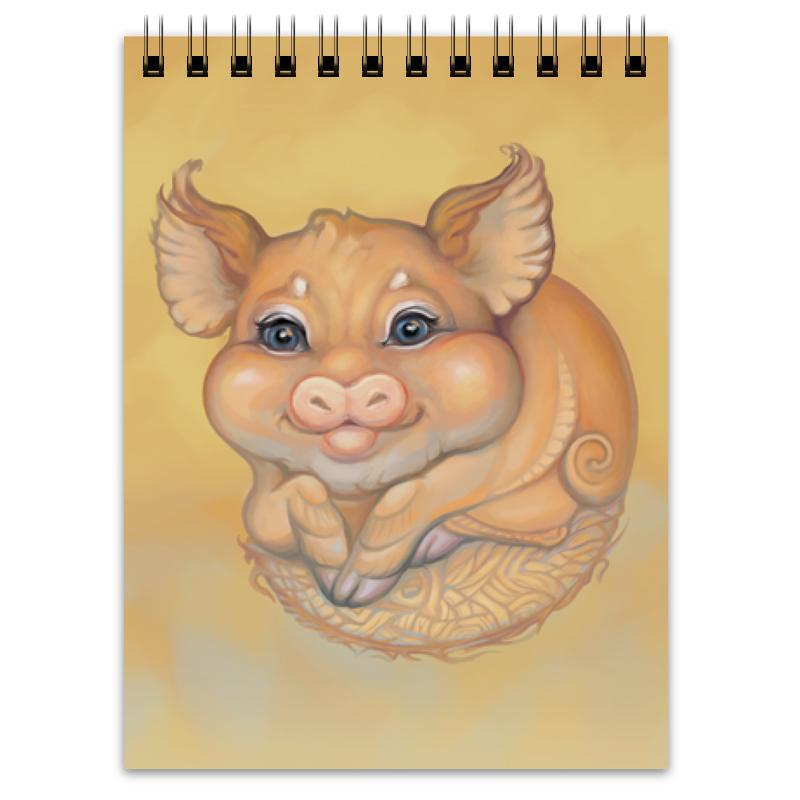 Printio Блокнот Свинья, символ года 2019. новогодний подарок