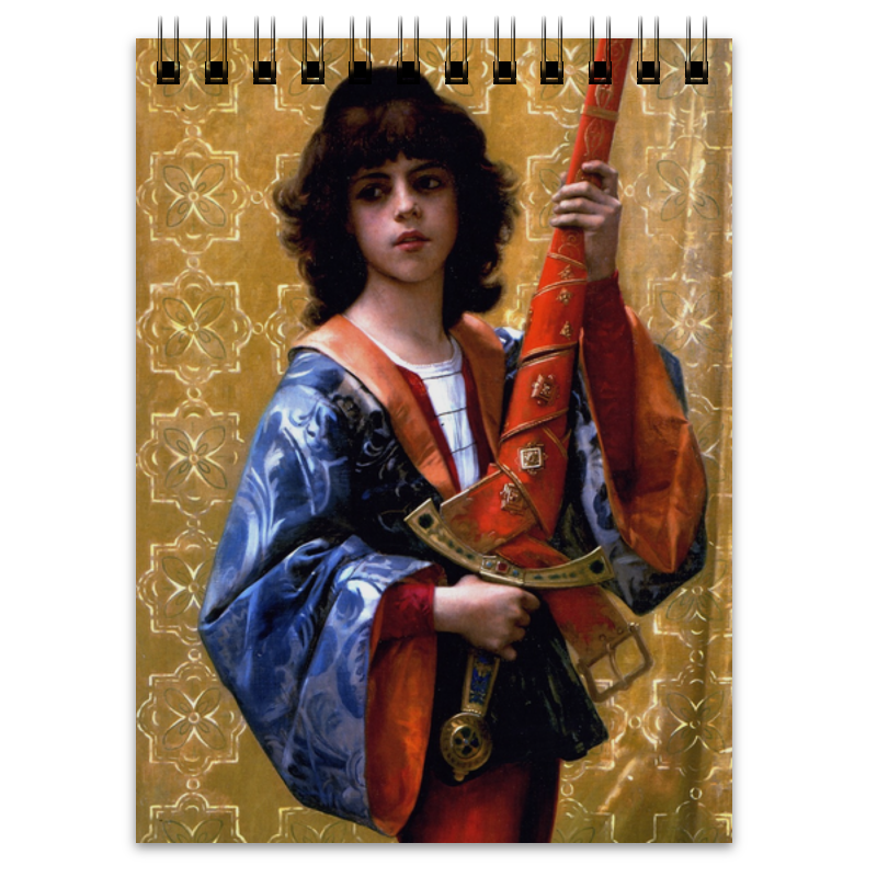printio конверт средний с5 паж картина кабанеля Printio Блокнот Паж (картина кабанеля)
