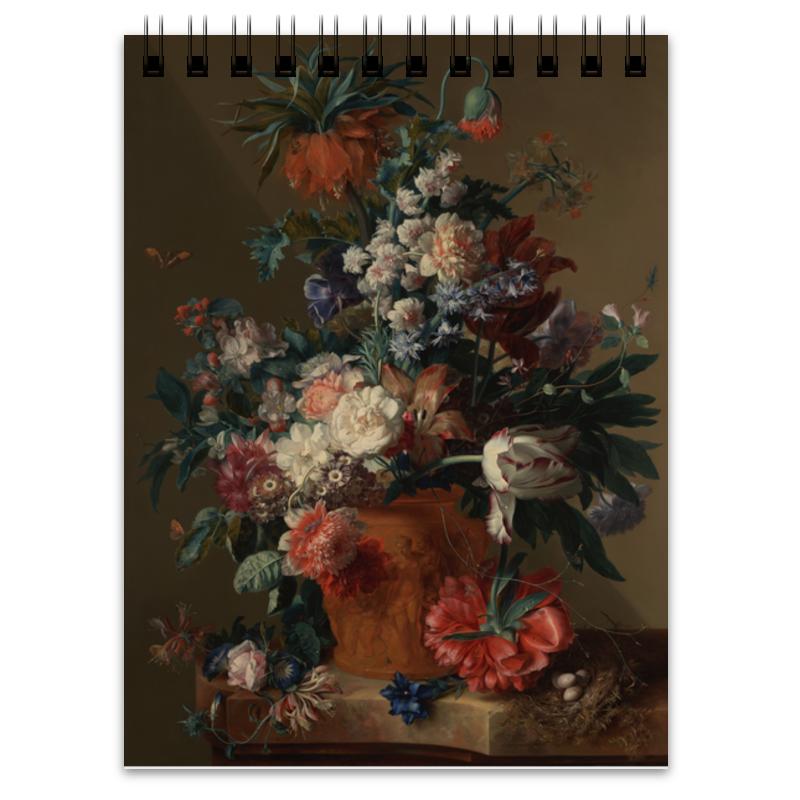 Printio Блокнот Ваза с цветами (ян ван хёйсум)