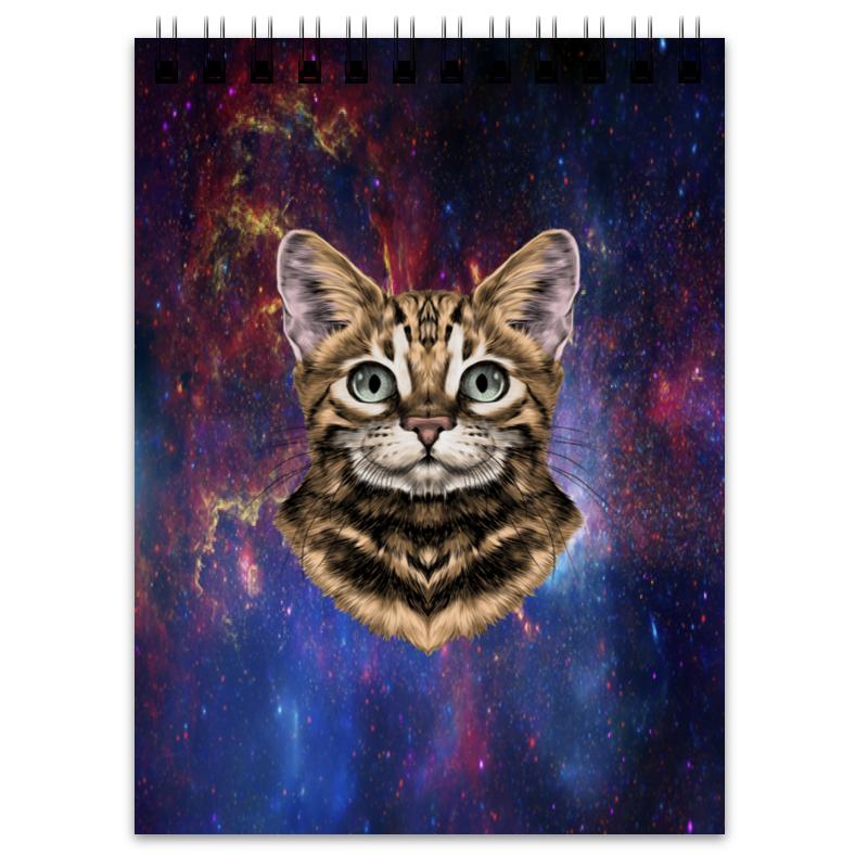 Printio Блокнот Кот в космосе