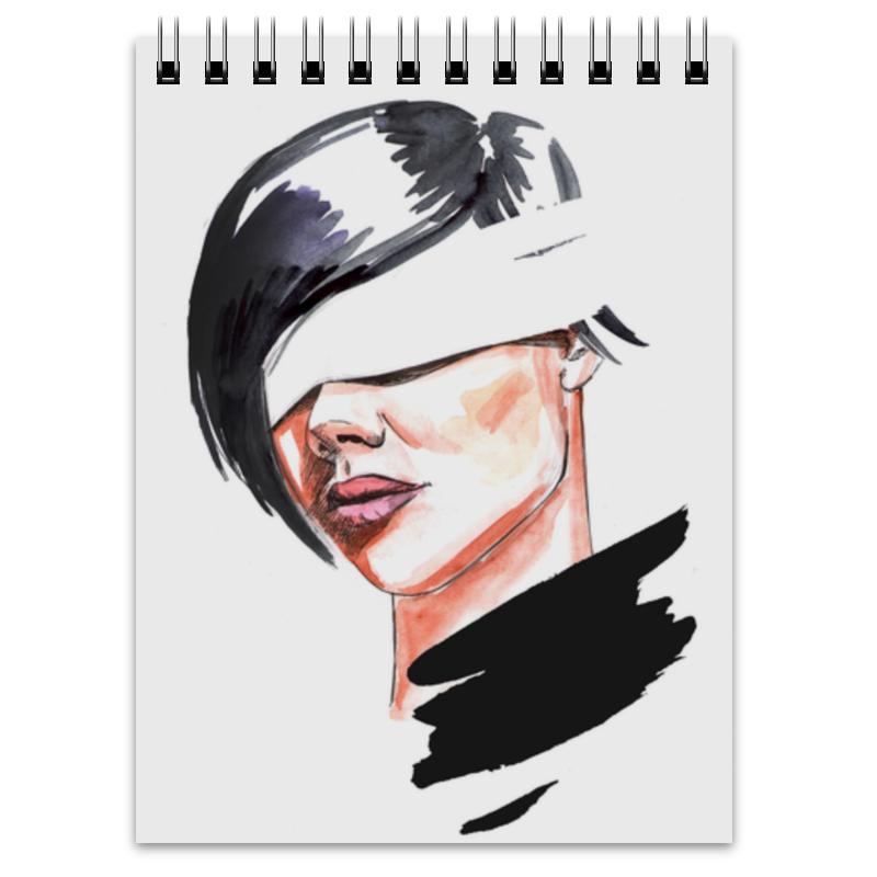 Printio Блокнот Девушка с завязанными глазами
