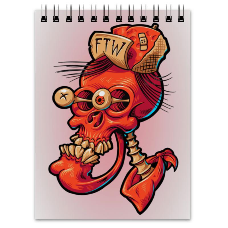 кружка пивная printio череп весёлый арт Printio Блокнот Череп весёлый арт