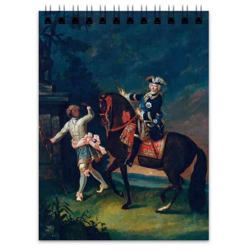 Printio Блокнот Конный портрет елизаветы петровны с арапчонком