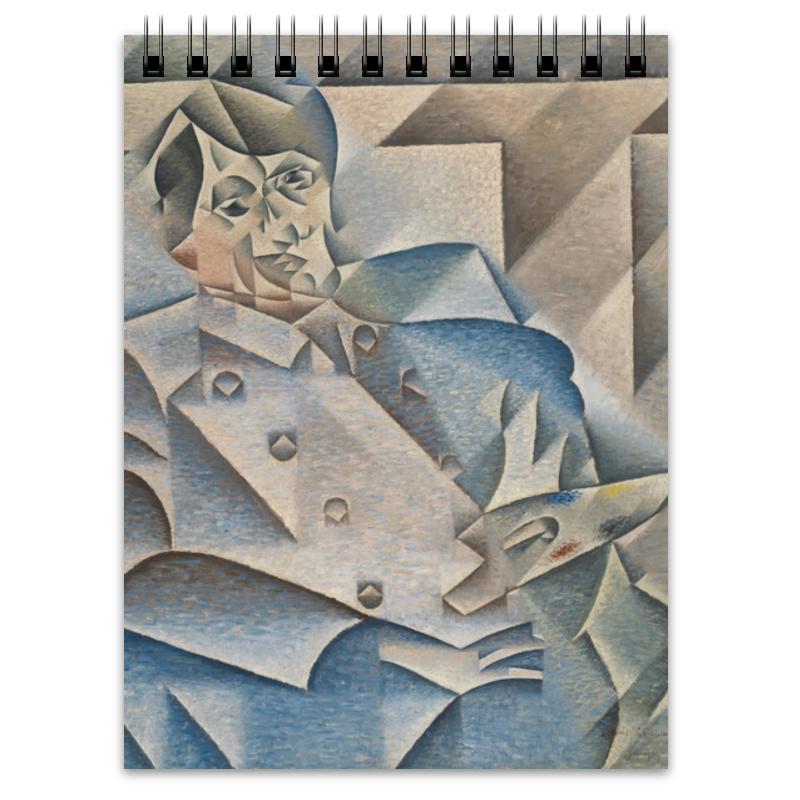 Printio Блокнот Портрет пабло пикассо (хуан грис)