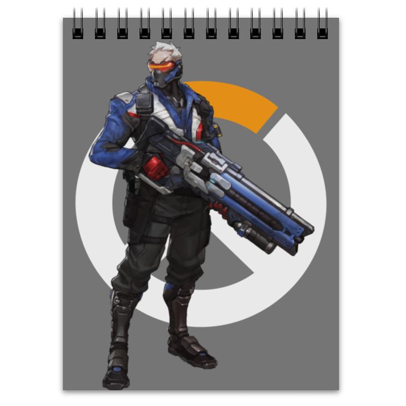 Printio Блокнот Overwatch soldier 76 / овервотч солдат 76