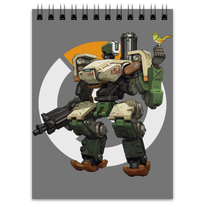 Printio Блокнот Overwatch bastion / овервотч бастион