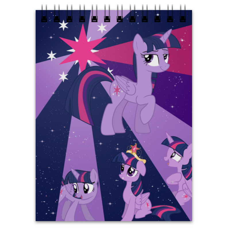 Printio Блокнот Princess twilight sparkle color line