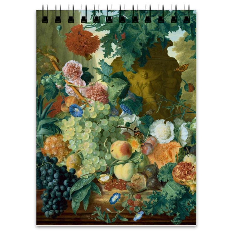 Printio Блокнот Фрукты и цветы (ян ван хёйсум)