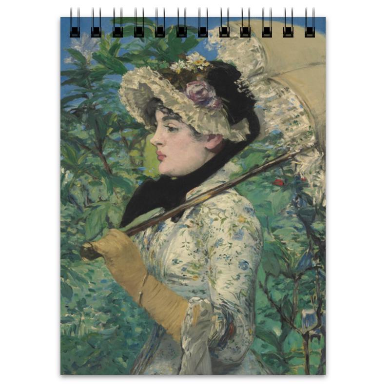 Printio Блокнот Жанна (весна) (картина эдуарда мане)