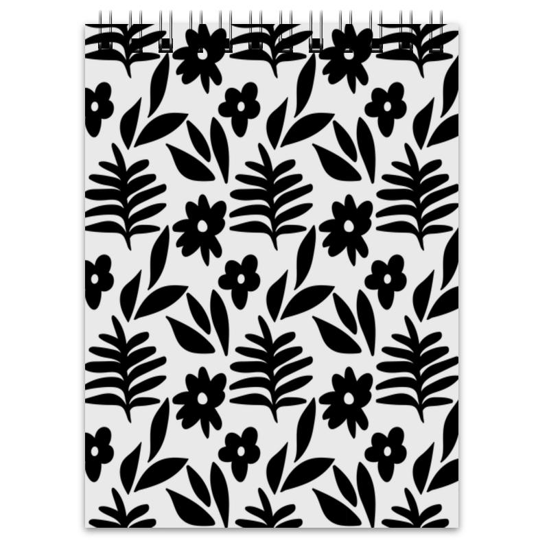 Printio Блокнот Черно-белые цветы