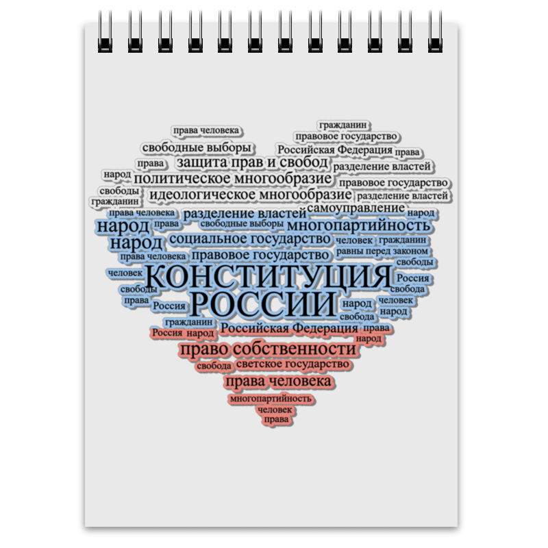Printio Блокнот Конституция рф. глава 1 кратко