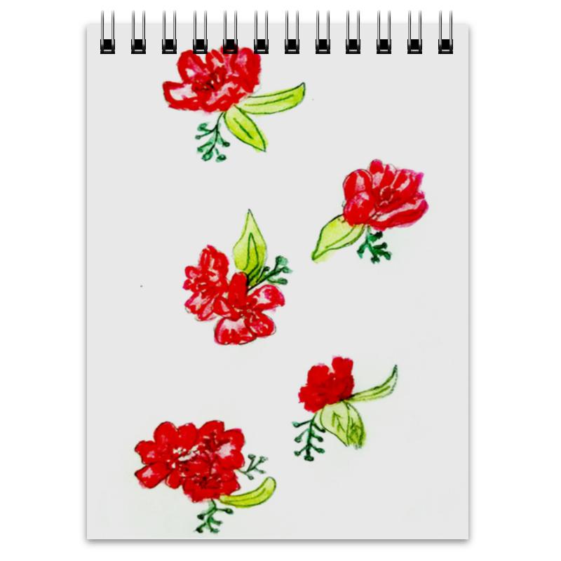 Printio Блокнот Блокнот красные цветы