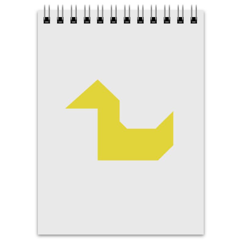 Printio Блокнот Жёлтая утка танграм