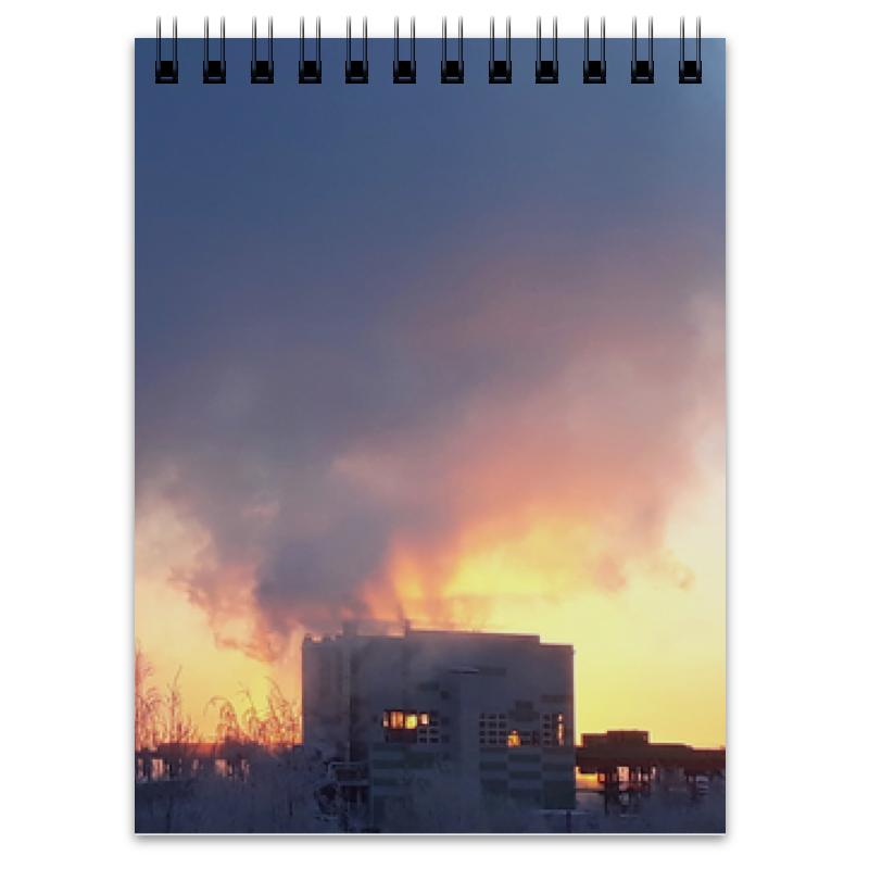 Printio Блокнот Рассвет, похожий на пожар