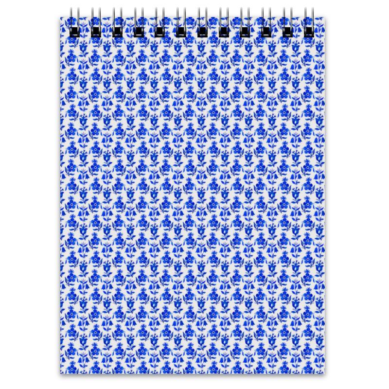 Printio Блокнот голубые цветы