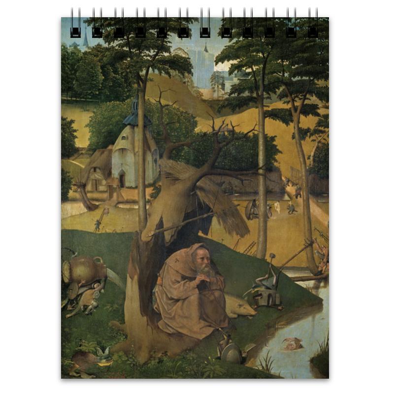 Фото - Printio Блокнот Искушение святого антония (картина босха) printio пазл магнитный 18×27 см 126 элементов искушение святого антония картина босха