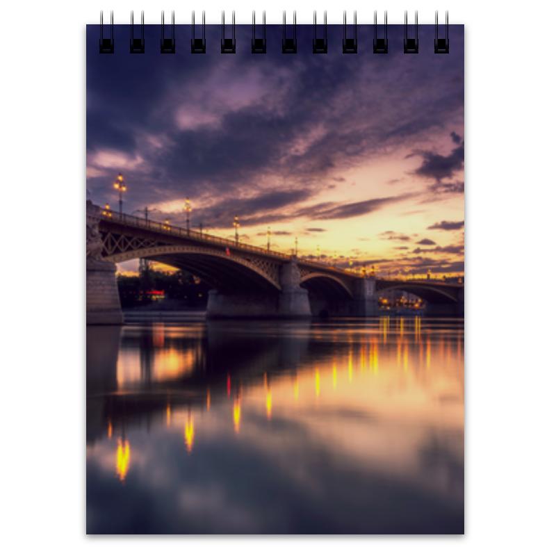 Printio Блокнот Вечерний мост