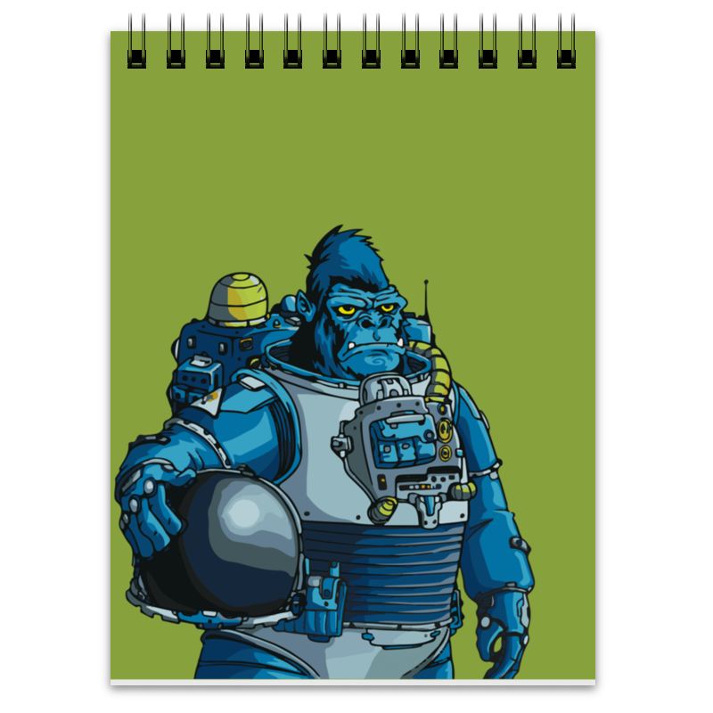 Printio Блокнот Космическая горилла