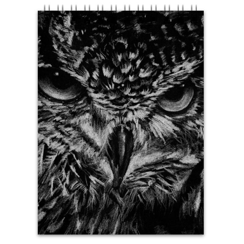 Printio Блокнот Черно-белая сова