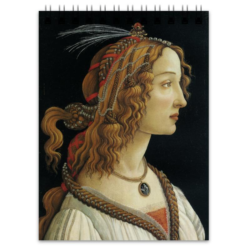 Printio Блокнот Портрет молодой женщины (боттичелли)