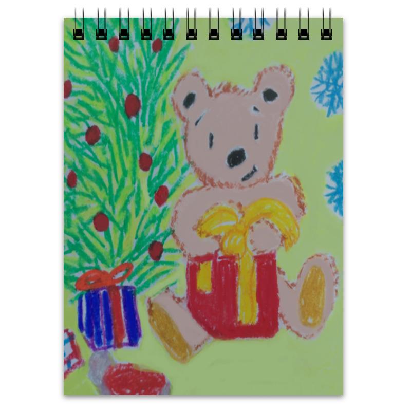 Printio Блокнот Новогодний мишка printio блокнот новогодний мишка