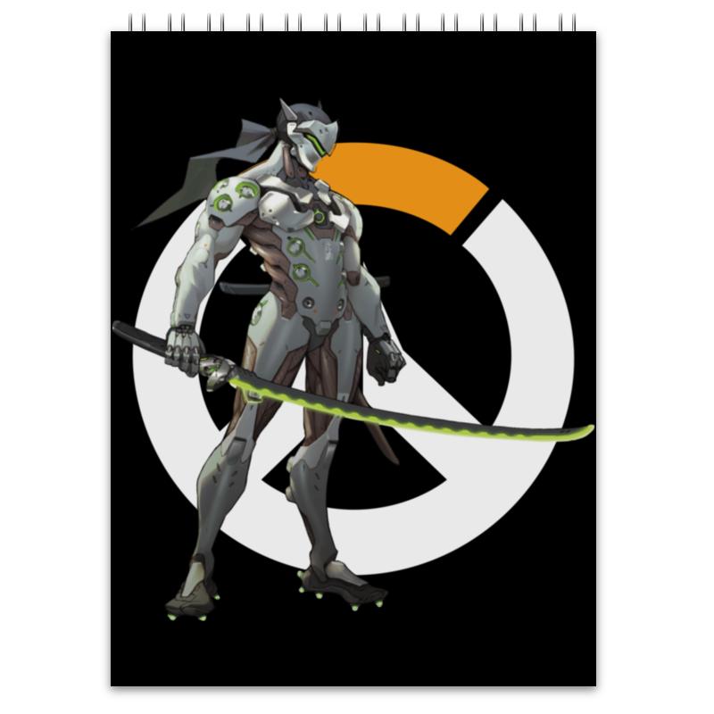 Printio Блокнот Overwatch genji / гендзи овервотч