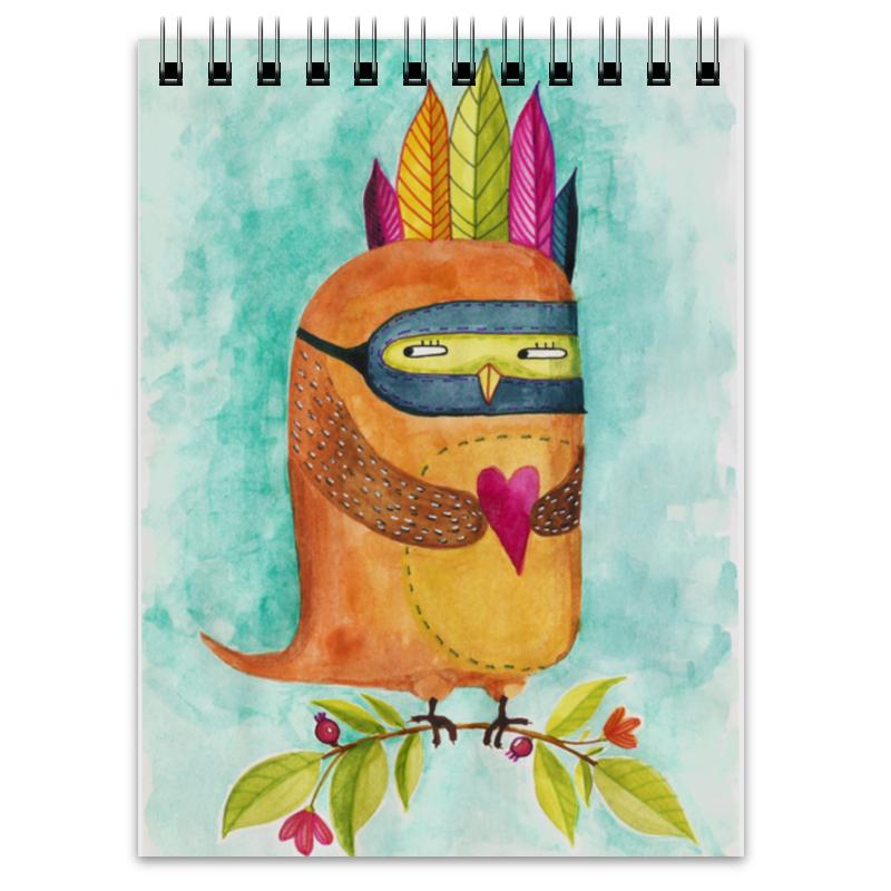 Printio Блокнот Рыжая сова индеец
