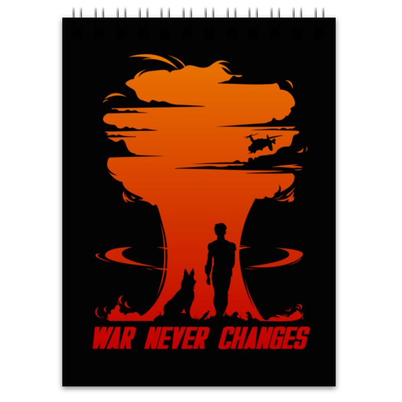Printio Блокнот Fallout. war never changes