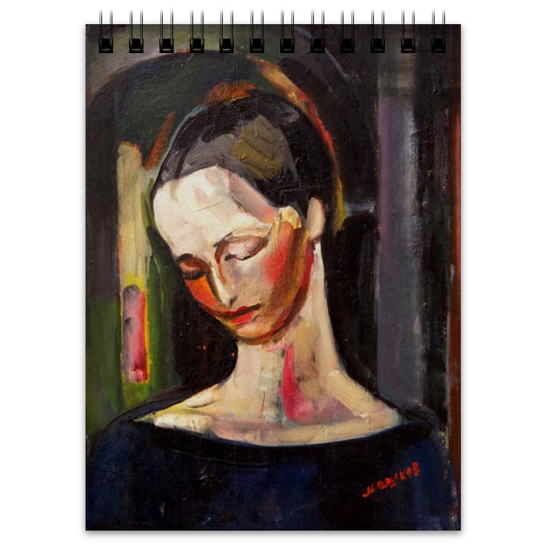Printio Блокнот Женский портрет (картина ильи машкова)