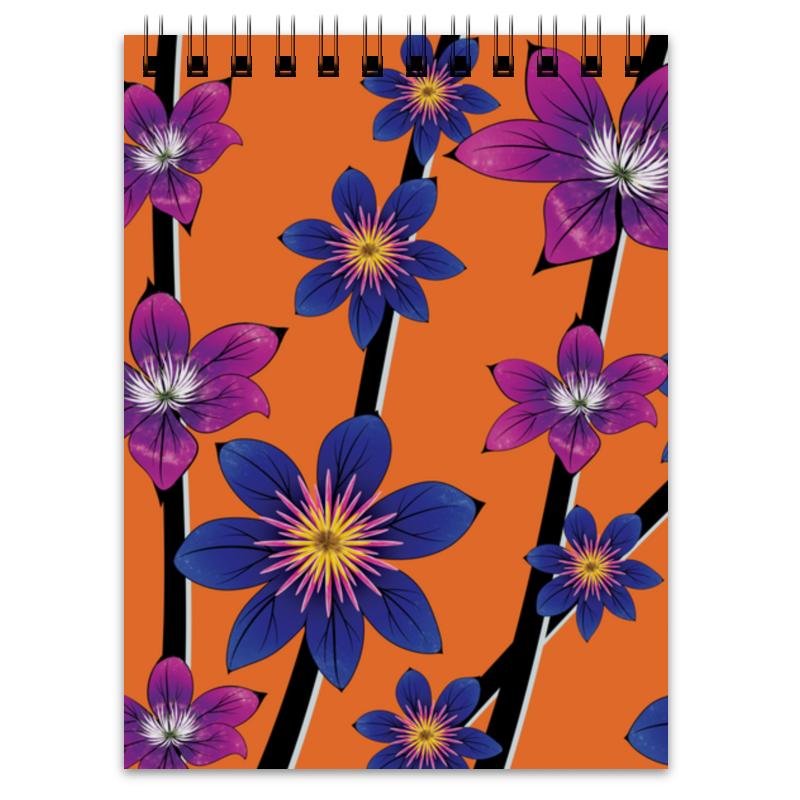 Printio Блокнот Синие цветы