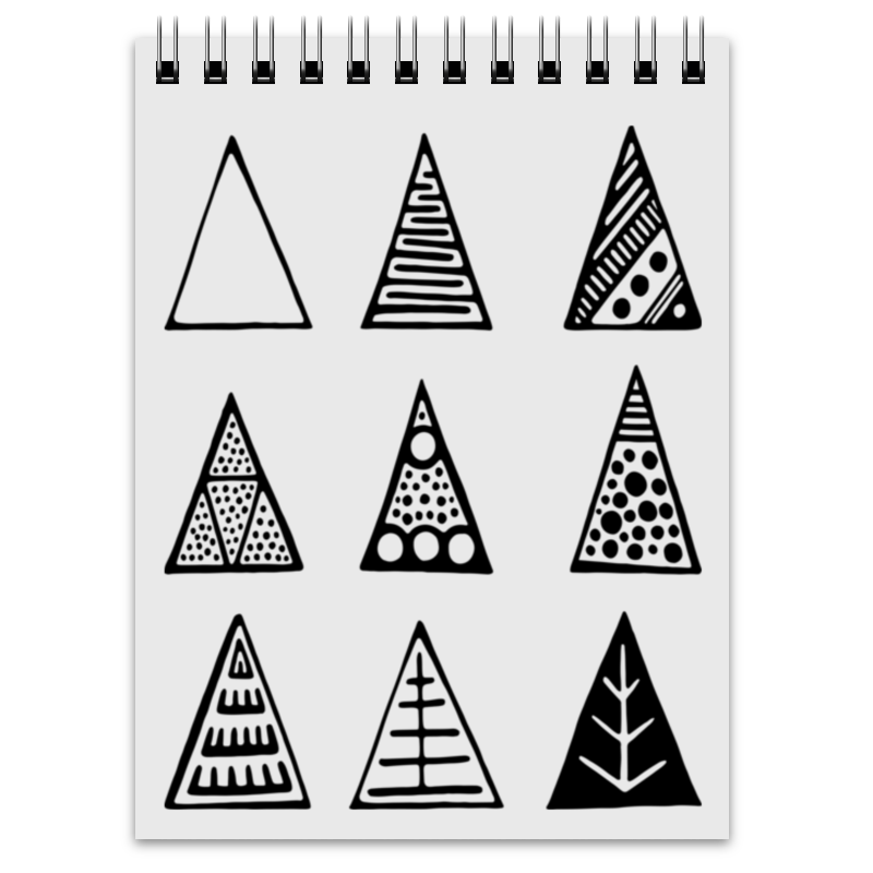 Printio Блокнот Triangles printio сумка с абстрактным рисунком
