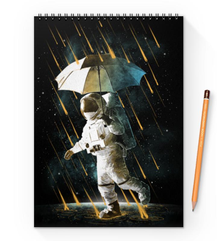 Printio Блокнот на пружине А4 Метеоритный дождь