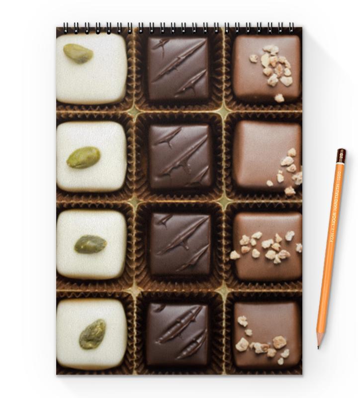 printio блокнот шоколад Printio Блокнот на пружине А4 шоколад