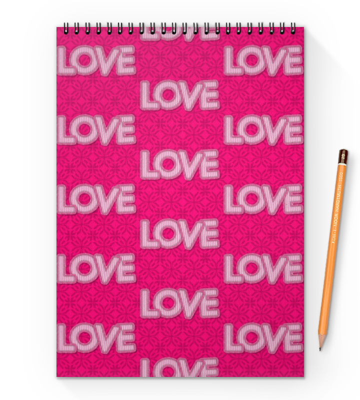 Printio Блокнот на пружине А4 Love love printio блокнот на пружине а4 stickers
