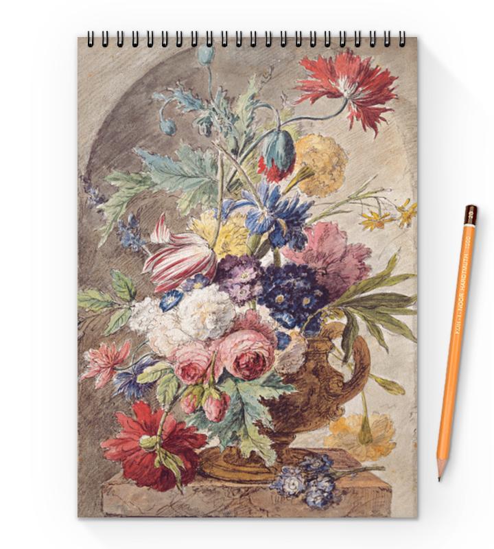 Printio Блокнот на пружине А4 Цветочный натюрморт (ян ван хёйсум) printio открытка цветочный натюрморт ян ван хёйсум